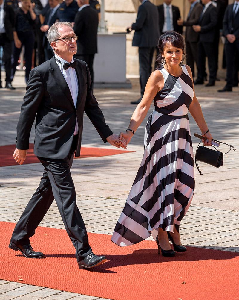 Prof. Dr. Stefan Leible mit Ehefrau Monika bei der Premiere der Bayreuther Festspiele 2018