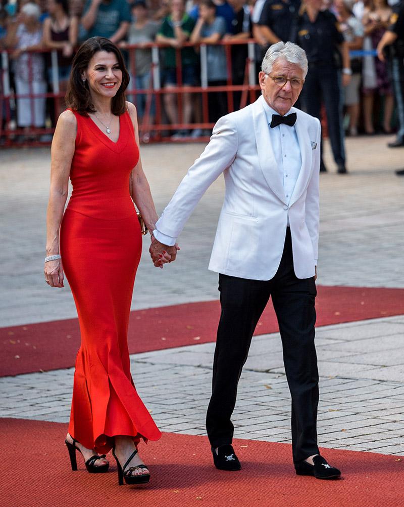 Prof. Dr. Marion Kiechle mit Marcel Reif bei der Premiere der Bayreuther Festspiele 2018