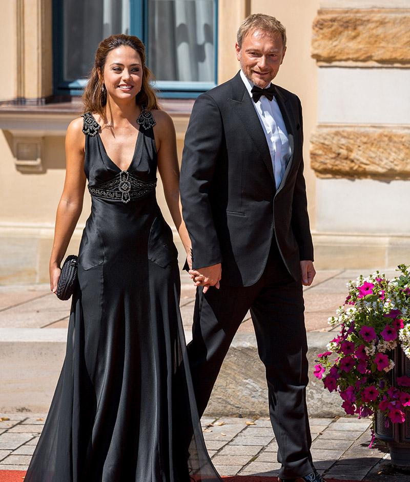 Christian Lindner und Franca Lehfeldt bei der Premiere der Bayreuther Festspiele 2018