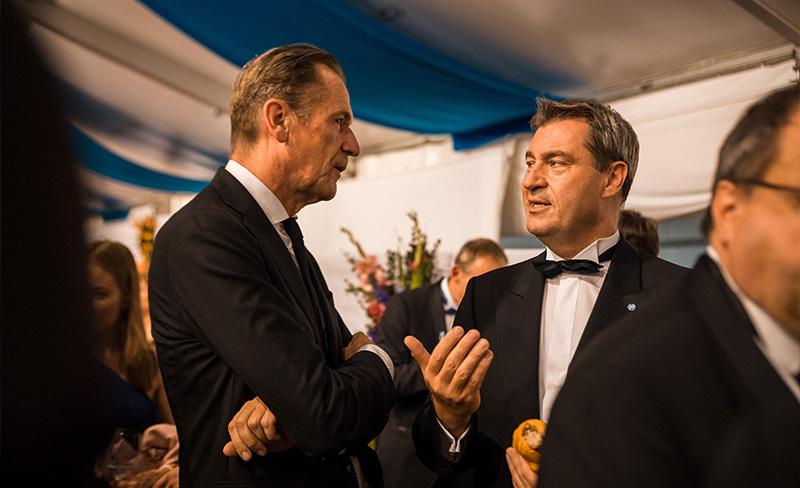 Markus Söder beim Staatsempfang nach der Premiere der Bayreuther Festspiele 2018