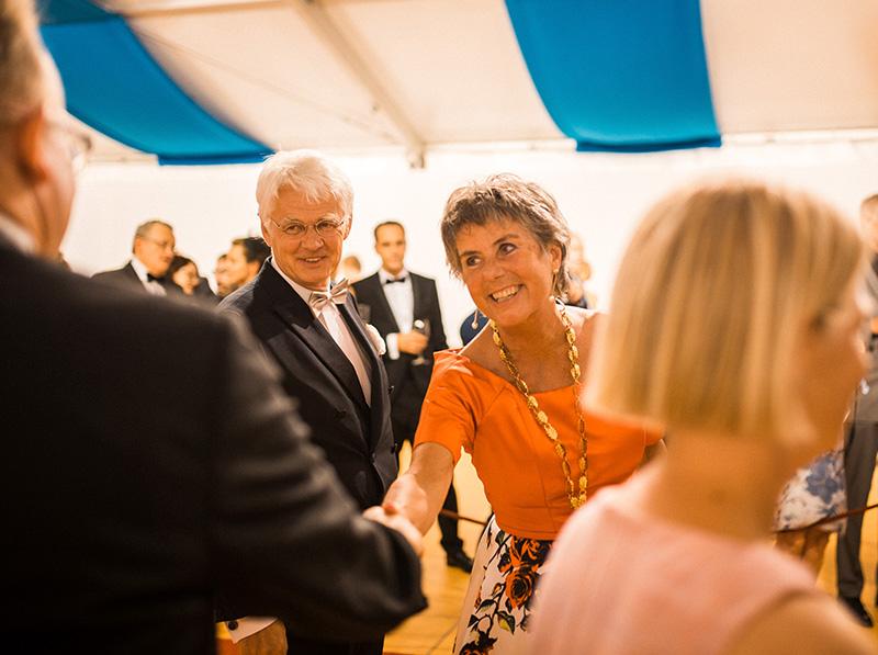 Bürgermeisterin von Bayreuth Brigitte Merk-Erbe beim Staatsempfang nach der Premiere der Bayreuther Festspiele 2018